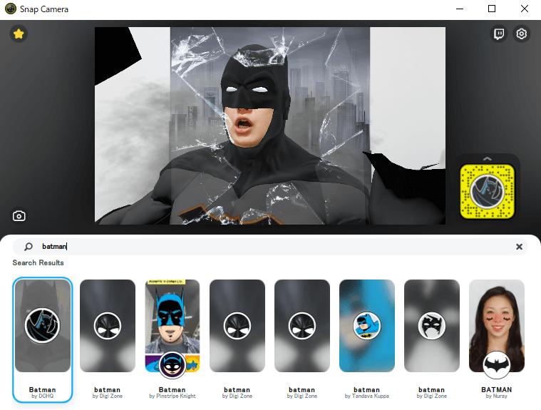 「Batman」で検索。とたんにマッチョヒーローになれます。