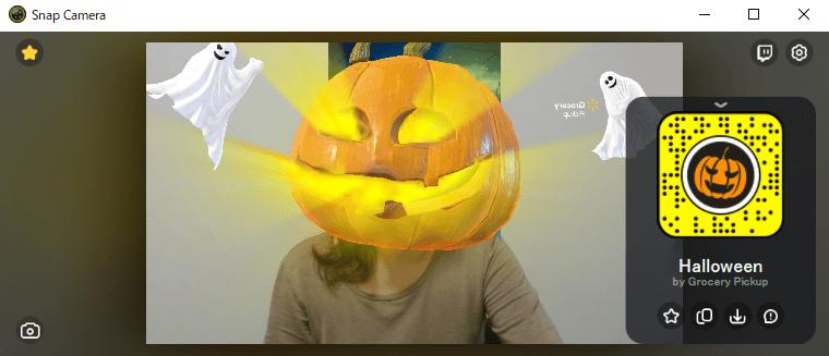 「Halloween」で検索。目からかぼちゃビーム!